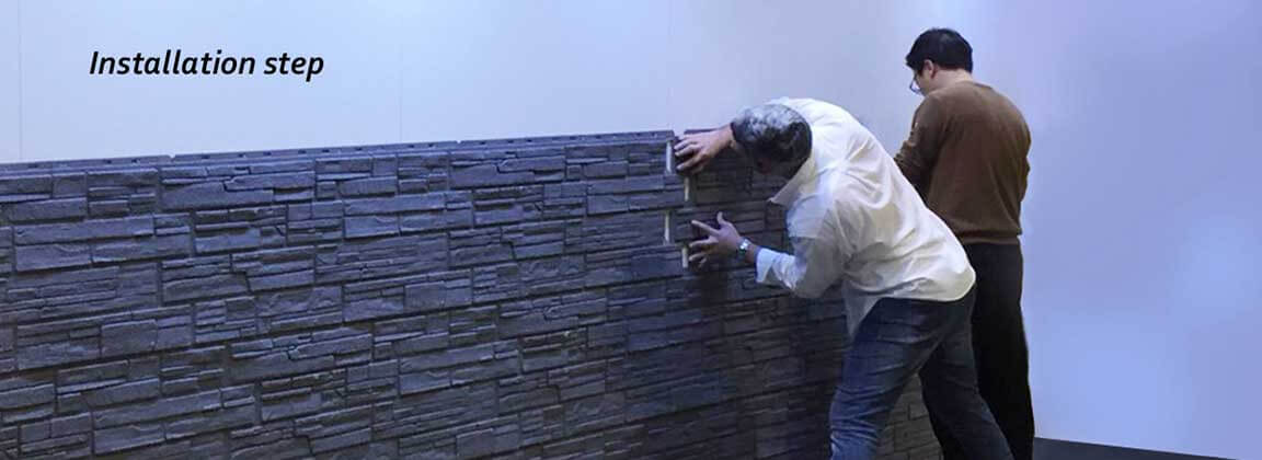 Installing ADDSTONE Faux-Stone Wall Panel